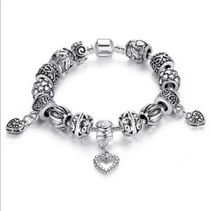 European Love 925 Silver Charms Bracelet